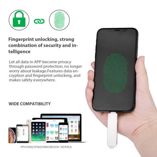 Kootion 1Pcs USB 3.0 32GB 64GB 128G Dual Fingerprint Design Flash Drive Storage