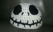 JACK SKELLINGTON Nightmare Before Christmas Baby Halloween Beanie Hat Crochet NB