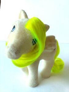 My Little Pony G1 So Soft Surprise Surprize Hasbro 1985 Pegasus Neon Flocked