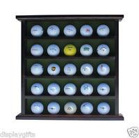 Golf Ball Display Case Wall Cabinet, No Door, Holds 25 Balls, Gb25-mah