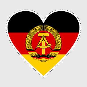 Aufkleber-DDR-Ost-Deutschland-Herz-Sticker-Autoaufkleber-D044