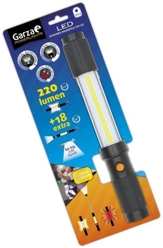 Garza Aluminium DEL Torche Avec Flexible Lumière Head extensible et magnétique et