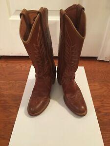 Tan Miss Capezio Cowgirl Boots size 5 12 M