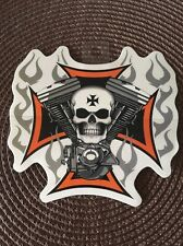 Skull Cross Motor Sticker-Decal Limited