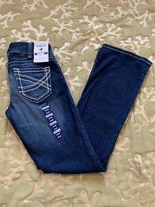 Para Mujeres Jeans Mediados De Subida Ariat Real Corte De Botas Ajuste Elastico 29r Ebay