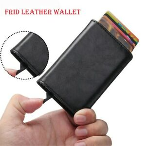 Auto-Credit-Card-Holder-Leather-RFID-Blocking-Metal-Wallet-Money-Clip-for-Men