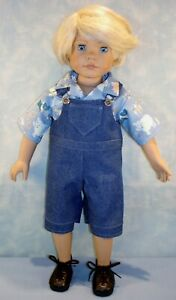 18-Inch-Boy-Doll-Clothes-Denim-Overalls-and-Shirt-Outfit-handmade-by-Jane-Ellen