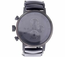 VESTAL UNISEX METCA02 METRONOME BLACK WITH BLACK ACETATE CHRONOGRAPH WATCH