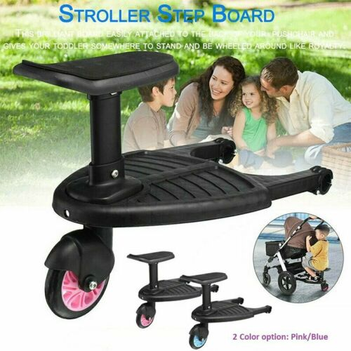 Wheeled Buggy Board Pushchair Stroller Kids Safety Comfort Step Board Up To 25Kg