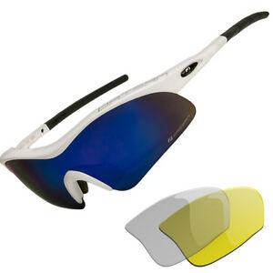 Daisan-Sport-Gafas-militares-Gafas-de-bicicleta-3x-disco-de-cambio-claro-amarillo-azul