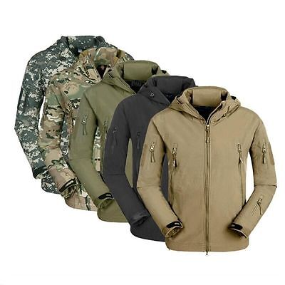 ESDY Men Soft Shell TAD Waterproof Tactical Jacket Hoodie Outdoor Coat