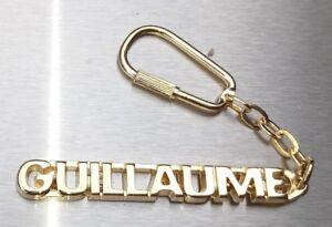 MüHsam Edler SchlÜsselanhÄnger Guillaume Vergoldet Gold Name Weihnachtsgeschenk Luxus-accessoires Uhren & Schmuck