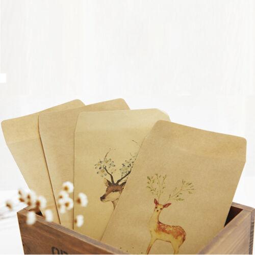 12 Pcs Deer Paper Envelope 4 Designs Envelopes Vintage European For Card Gift
