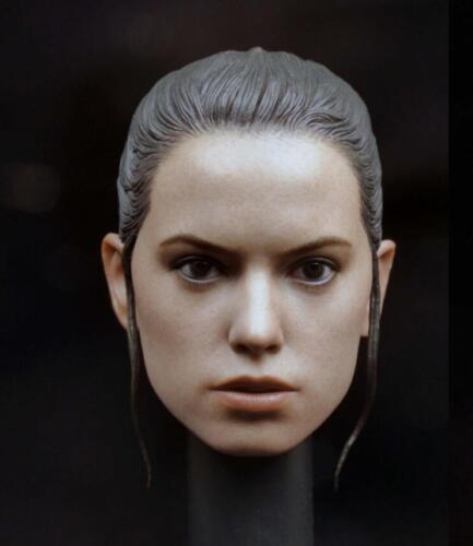 Custom 1//6 Daisy Ridley Head Sculpt for  Star Wars Rey Hot Toys phicen Body USA