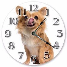 "10.5"" HILARIOUS CHIHUAHUA CLOCK - Large 10.5"" Wall Clock Home Décor Clock - 3075"