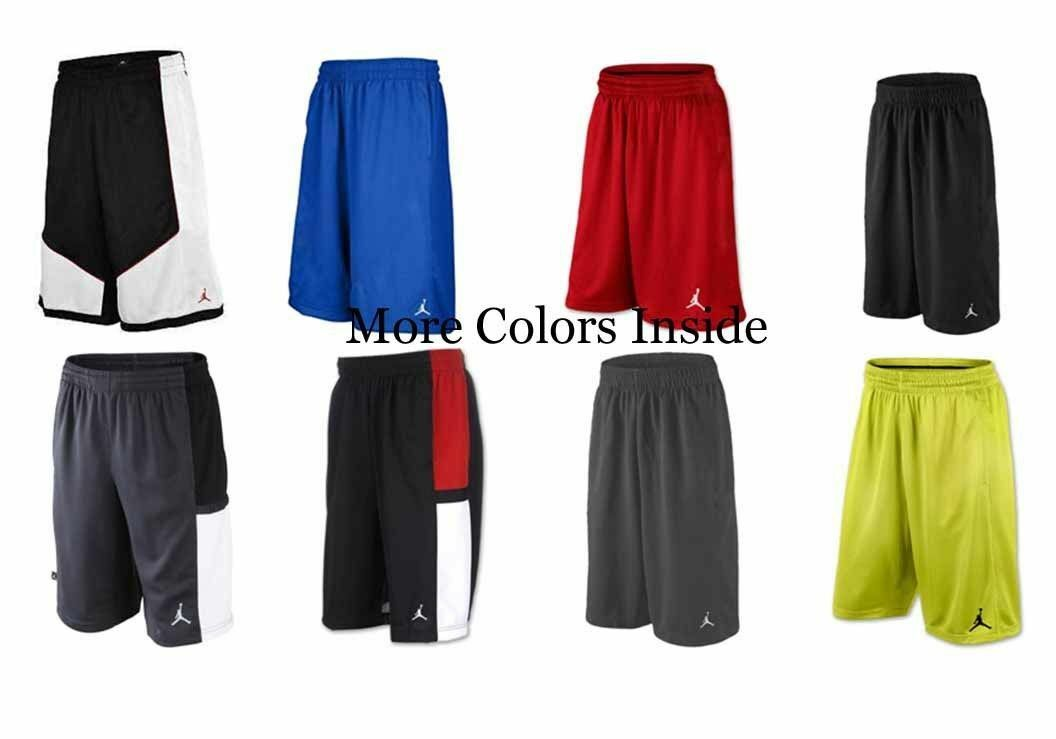 7705802a25c711 Nike Air Jordan Jumpman Boys Youth Basketball Shorts Mesh Size XL Black  White for sale online
