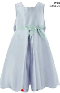 Details about Monsoon Children Elysianna Bow Blue Dress Age 11 Bnwt Prom  Party Wedding