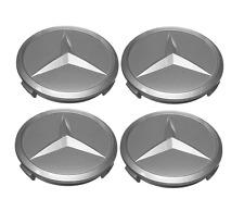 NEW Mercedes R107 W116 W123 Set of 4 Genuine Wheel Hub Cap Emblems 1074000025