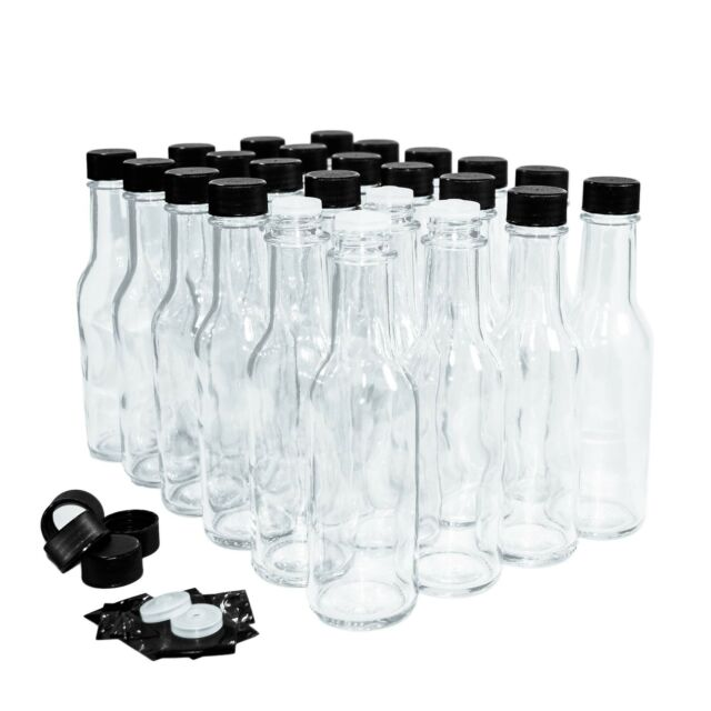 empty hot sauce bottles 30 pack Plastic with red caps