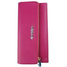 Genuine Leather Women Long Zip Wallet Clutch Handbag