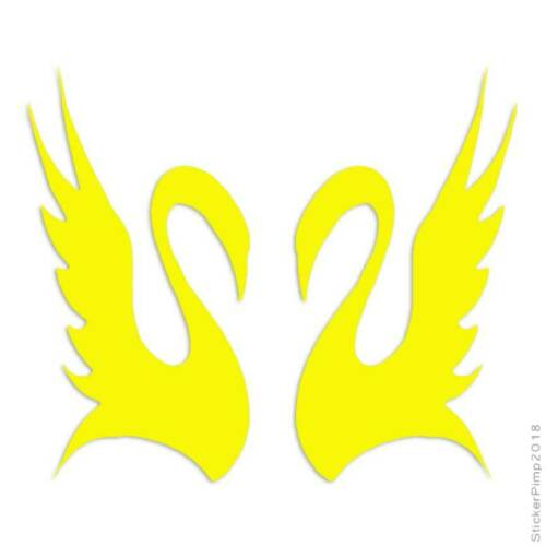 Pair of Swans Decal Sticker Choose Color Large Size #lg672