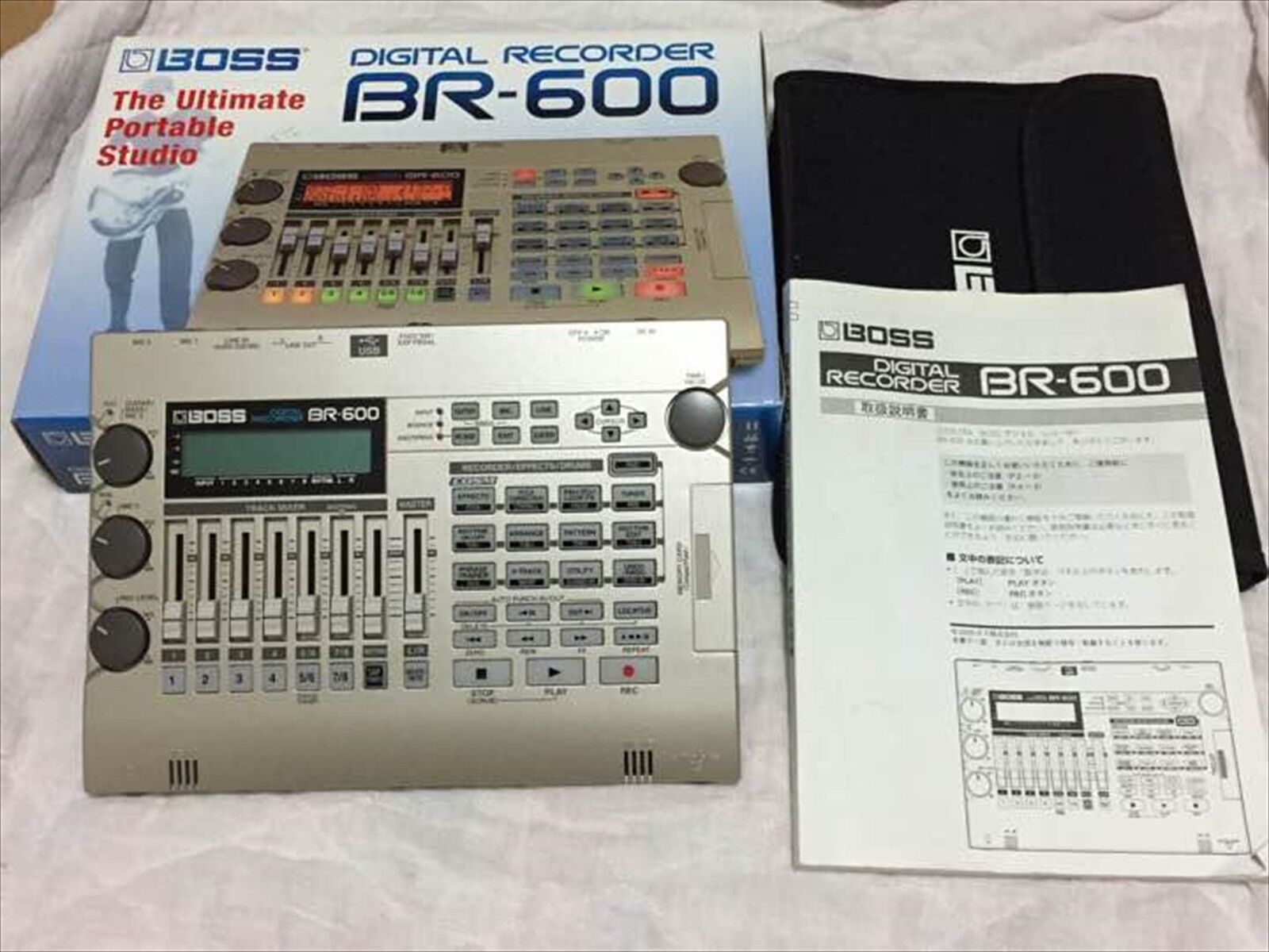 Used Roland BOSS DIGITAL RECORDER BR-600 with Box Manual Soft case from JAPAN