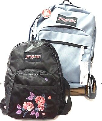 fda5e430e08f JanSport Mini Backpack Roses Black Half Pint FX Satin Rose for sale ...