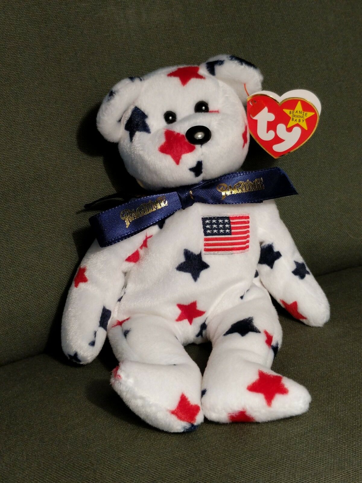 TY Beanie Babies, Glory the Ragtime Glory, Very rare.