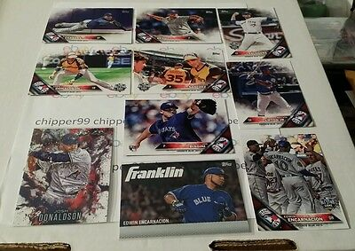 Toronto Blue Jays 43 Card MASTER Team Set 2016 Topps Series 1,2 & Update Inserts