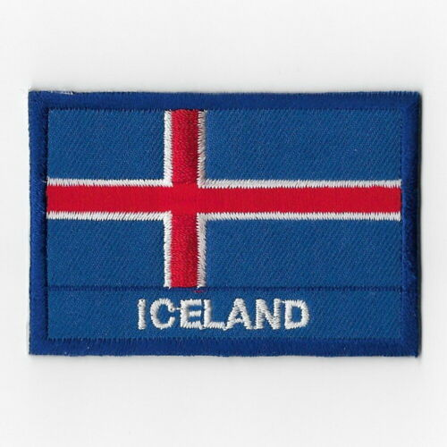 Iceland National Flag Iron on Patches Embroidered Applique Badge Emblem