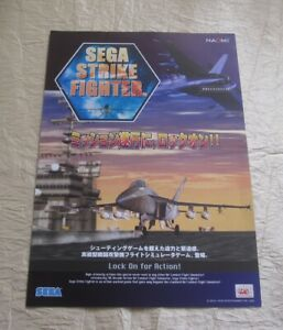 2000 Sega Strike Fighter Jp Video Flyer To Produce An Effect Toward Clear Vision Collectibles