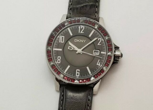 e916df31f DKNY NY4288 Women's Watch With Grey Leather Strap for sale online | eBay