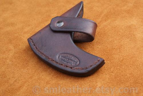 Cold Steel Pipa Hawk Tomahawk marrón Vaina De Cuero Funda Y Correa llevar bucle