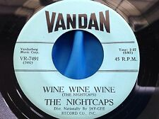 Rockabilly Rocker 45 : The Nightcaps ~ Wine, Wine, Wine ~ Nightcap Rock ~ Vandan