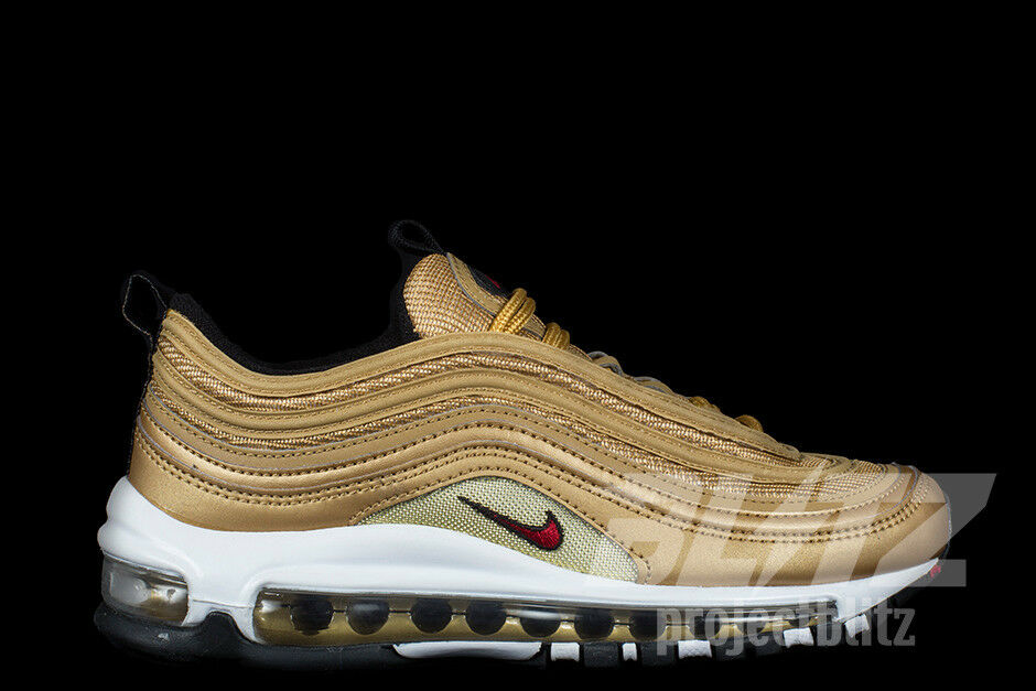 NIKE AIR MAX 97 OG QS METALLIC GOLD Sz 8.5-12 VARSITY RED 884421-700 The most popular shoes for men and women