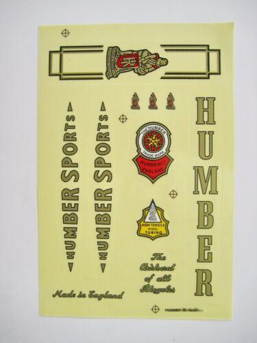 HUMBER DECAL BICYCLE VINTAGE BIKE STICKER SPORT HUMBER STICKER DECALS SET