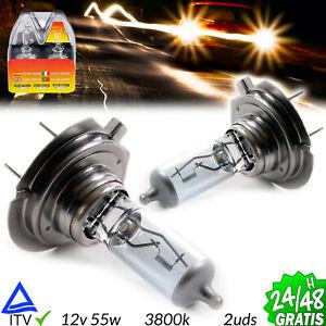 2X-BOMBILLAS-LAMPARA-HALOGENA-H1-LUZ-AMARILLA-3800K-55W-12V-CAR-LAMP-MOTO-COCHE