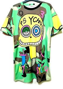 Cartoon-Psycho-Printed-Shirt-Mini-Dress