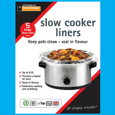 10x Slow Cooker Fodere, Trasparente, Nessun Disordine Sul Pentole Borse, Ovale Lento Cucine Economiche-