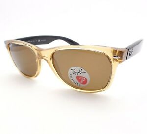 b478a52cfdc AUTHENTIC Ray Ban New Wayfarer 2132 945 57 55 Crystal Honey Brown ...