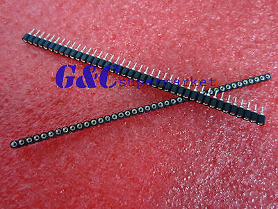 50Pcs Single Row 40Pin 2.54mm Round Female Pin Header gold plated machined H