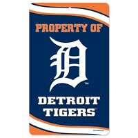 Detroit Tigers Property Of Sign 7.25x12