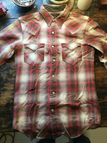 RRL, Western Shirt, Shadow Tartan, Black/Red/Whit… - image 1