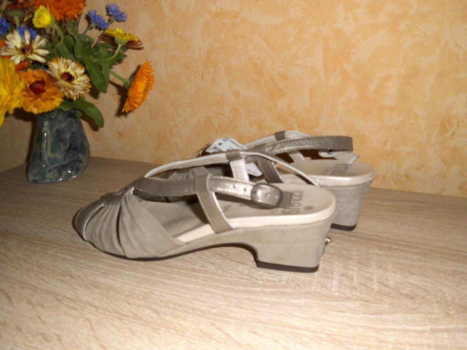 Sandali elegante di meisi Nuovo Taglia 5,5 38,5 F pelle in bronzo taupe in pelle F & lavoro manuale f4e647