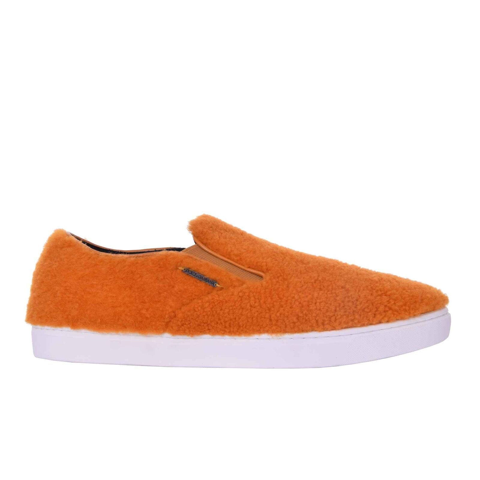DOLCE & GABBANA Lamm Fell Slip-On Sneaker Sneakers LONDON Schuhe Orange 06248