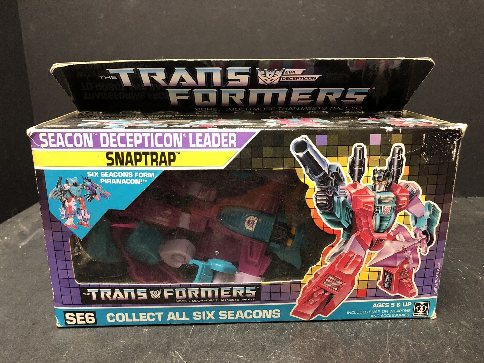 Original Vintage 1987 G1 Transformers Seacon Snaptrap Complete With Box AM0015