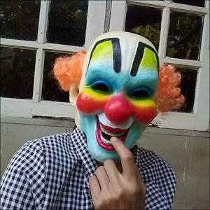 Full Mask Joker Dress Face Latex Cosplay Costume Adult Halloween Prop Fancy New
