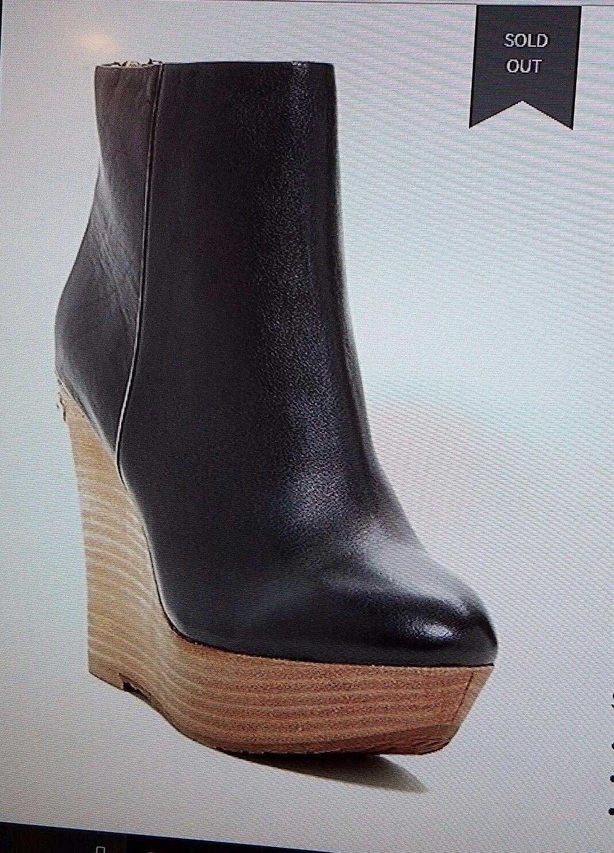 395 Nuevo Para mujeres Elaine Turner paparazzi Wedge Wedge Wedge botaie Negro retirado 50% + Apagado  ventas en linea