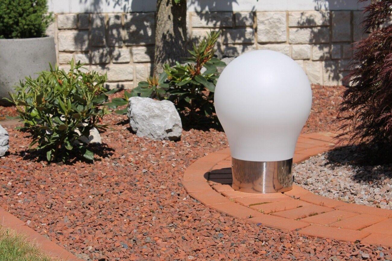 Designer LED Gartenleuchte  Glühbirne  weiss inkl Fernbedienung 50cm Lichtwürfel