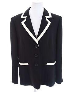 Preston-amp-York-Contrast-Black-White-Blazer-Jacket-Minimalist-Womens-Plus-Sz-18